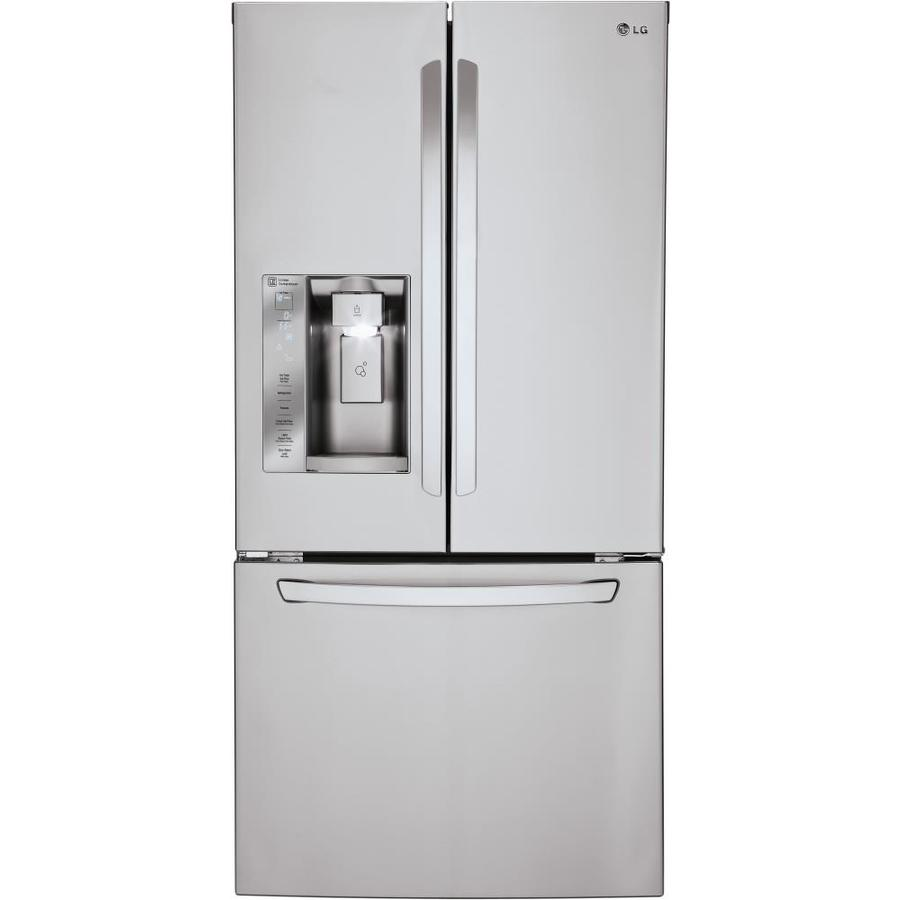 LG 24.2-cu ft French Door Refrigerator with Single Ice Maker (Stainless Steel) ENERGY STAR