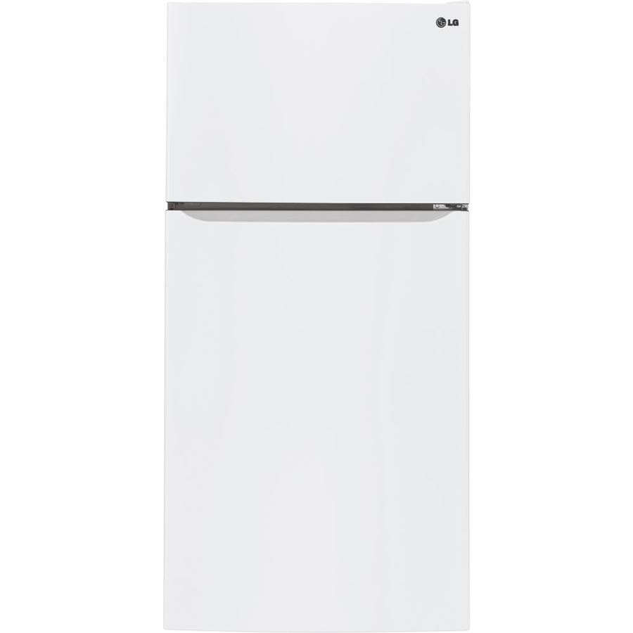 LG 23.8-cu ft Top-Freezer Refrigerator with Single Ice Maker (Smooth White) ENERGY STAR