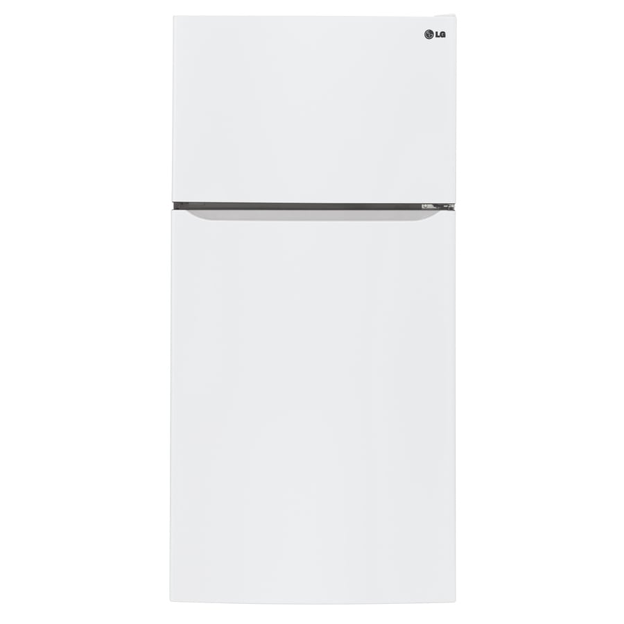 LG 20.2-cu ft Top-Freezer Refrigerator with Single Ice Maker (Smooth White) ENERGY STAR
