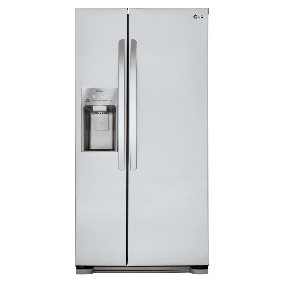 shop lg 22 1 cu ft side by side refrigerator with ice maker stainless steel energy star at. Black Bedroom Furniture Sets. Home Design Ideas