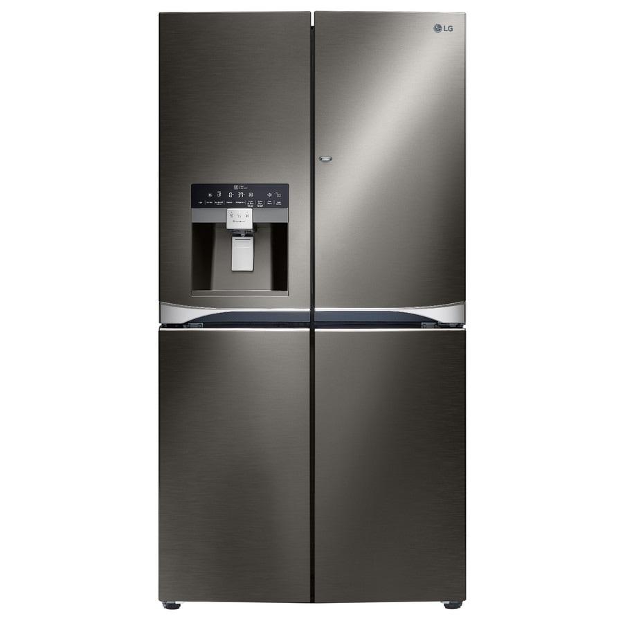 LG 29.8-cu ft 4-Door French Door Refrigerator with Single Ice Maker and Door within Door (Black Stainless) ENERGY STAR