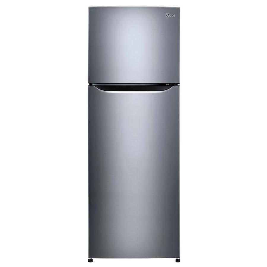 Shop Lg 11 1 Cu Ft Top Freezer Refrigerator Stainless Vcm