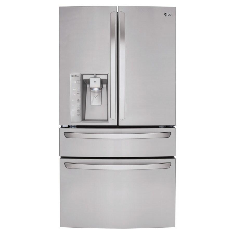 LG 29.9-cu ft 4-Door French Door Refrigerator with Single Ice Maker (Stainless Steel) ENERGY STAR