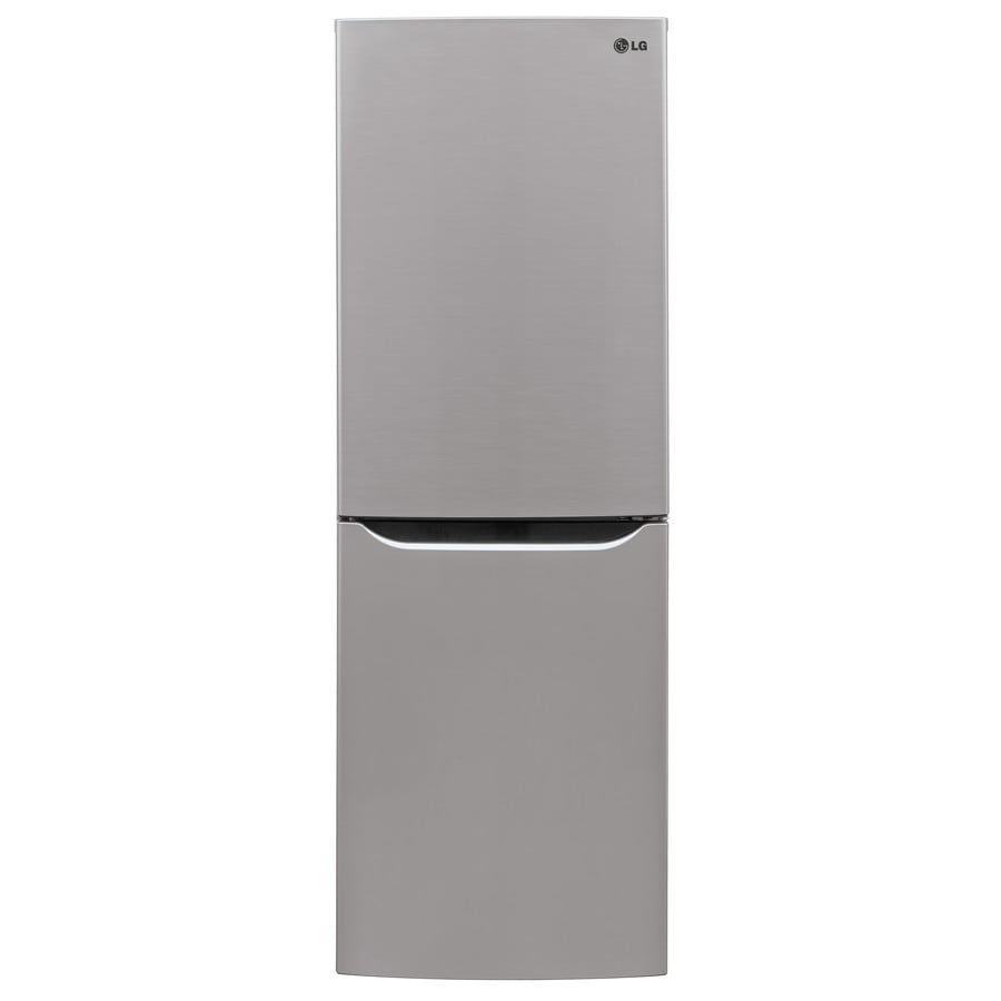 LG 10.1-cu ft Bottom-Freezer Refrigerator (Platinum Silver)
