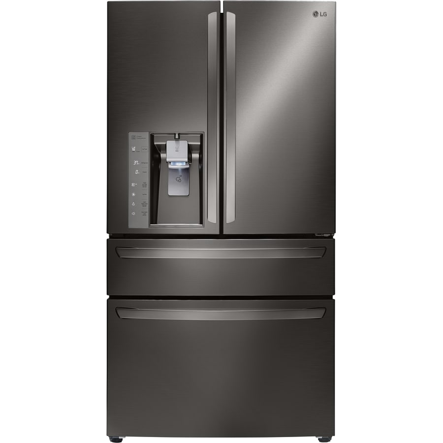 Countertop Ice Maker Lowes : ... Refrigerator with Ice Maker (Black Stainless) ENERGY STAR at Lowes.com