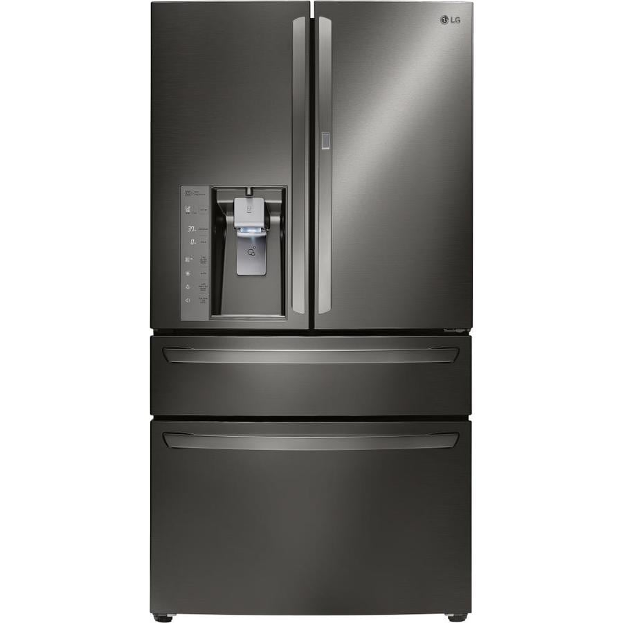 shop lg 29 7 cu ft 4 door french door refrigerator with. Black Bedroom Furniture Sets. Home Design Ideas