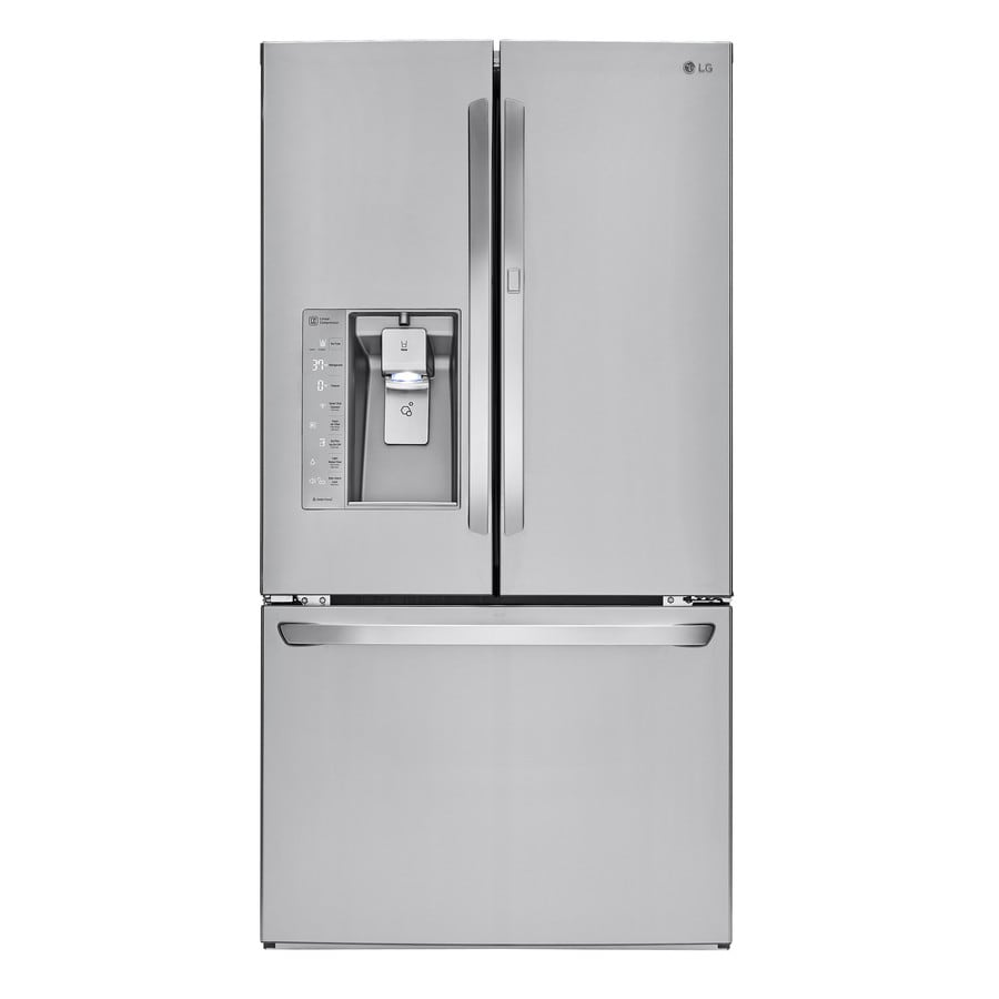 LG 29.6-cu ft French Door Refrigerator with Single Ice Maker Door Within Door (Stainless Steel) ENERGY STAR