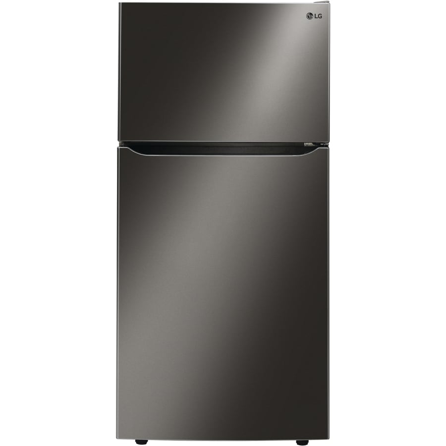 LG 23.8-cu ft Top-Freezer Refrigerator with Ice Maker (Fingerprint-Resistant Black Stainless Steel) ENERGY STAR