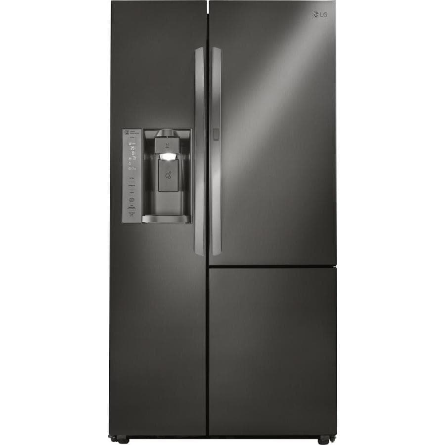 LG 26.1-cu ft Side-By-Side Refrigerator Single Door Within Door (Black Stainless Steel) ENERGY STAR