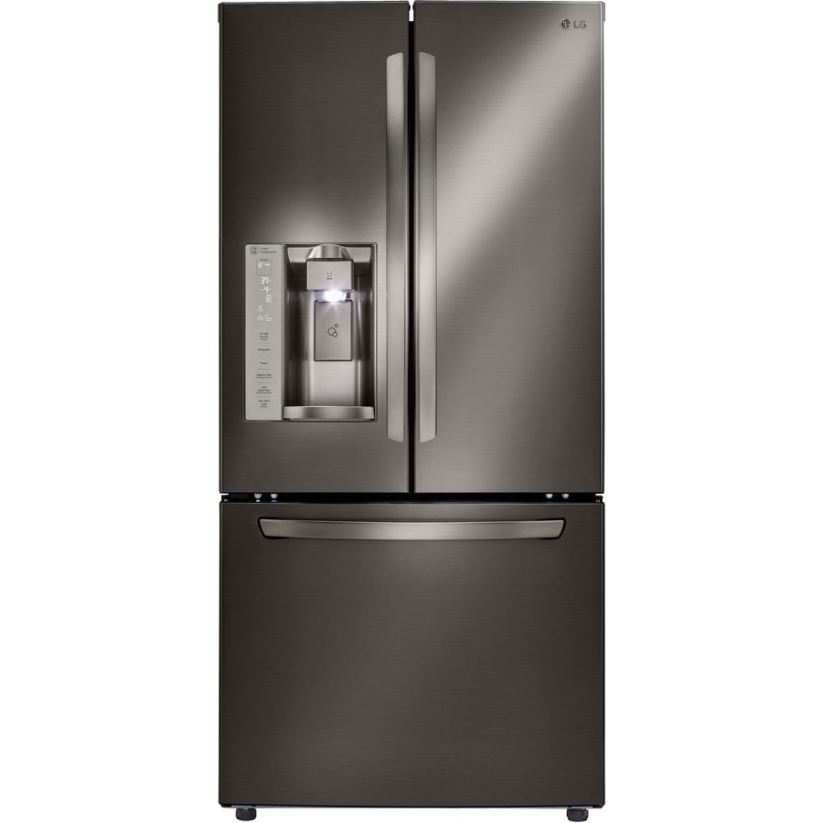 Shop Lg 24 2 Cu Ft French Door Refrigerator With Ice Maker