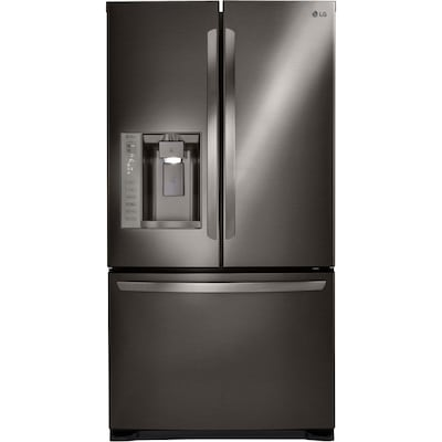 LG 24 1-cu ft French Door Refrigerator with Dual Ice Maker