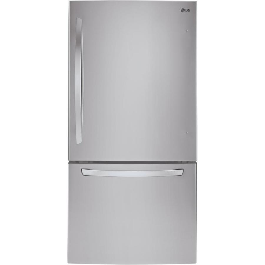 LG 24.1-cu ft Bottom-Freezer Refrigerator with Single Ice Maker (Stainless Steel) ENERGY STAR