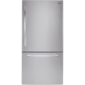 LG 24.1-cu ft Bottom-Freezer Refrigerator with Ice Maker (Stainless Steel) ENERGY STAR