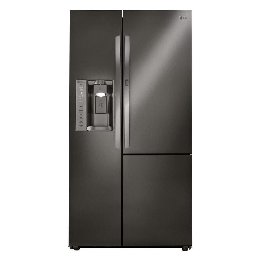 Shop Lg 21 7 Cu Ft Counter Depth Side By Side Refrigerator