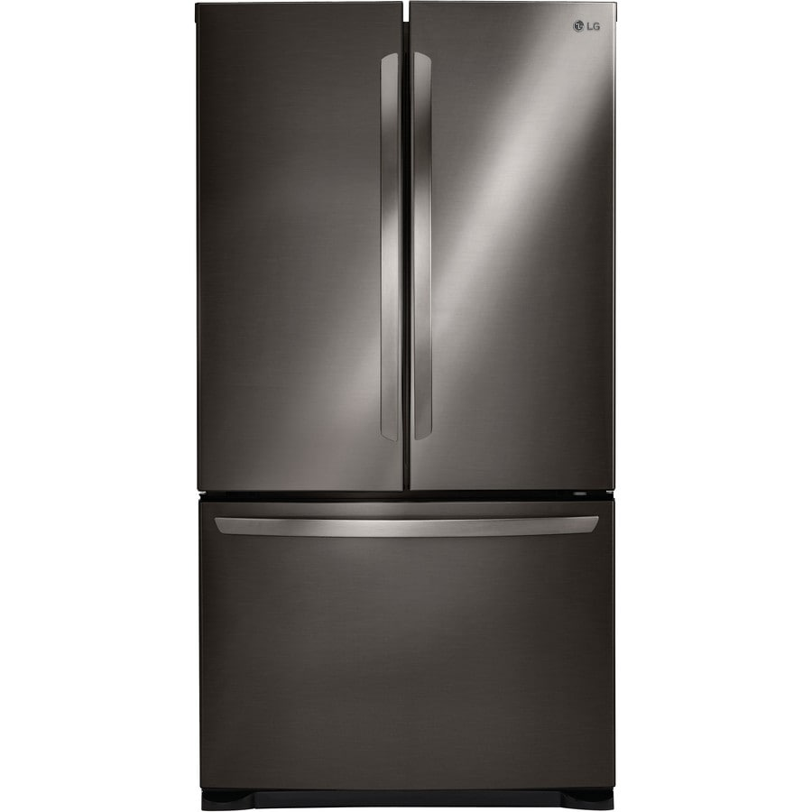 Shop Lg 25 4 Cu Ft French Door Refrigerator With Ice Maker