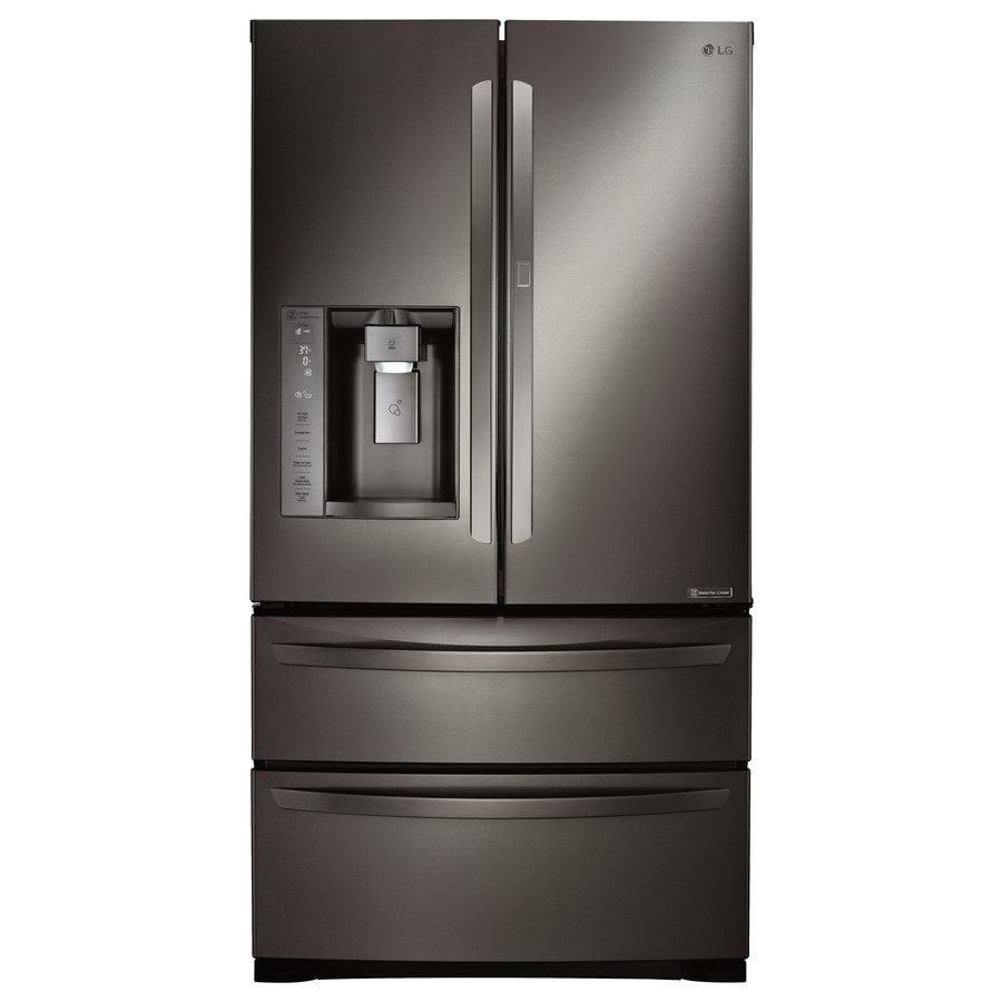 Shop lg 265 cu ft 4 door french door refrigerator with ice maker lg 265 cu ft 4 door french door refrigerator with ice maker and door rubansaba