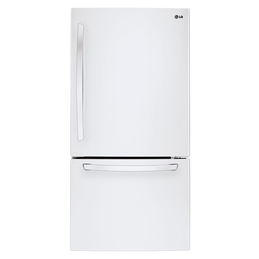 LG 22.1-cu ft Bottom-Freezer Refrigerator with Ice Maker (White) ENERGY STAR