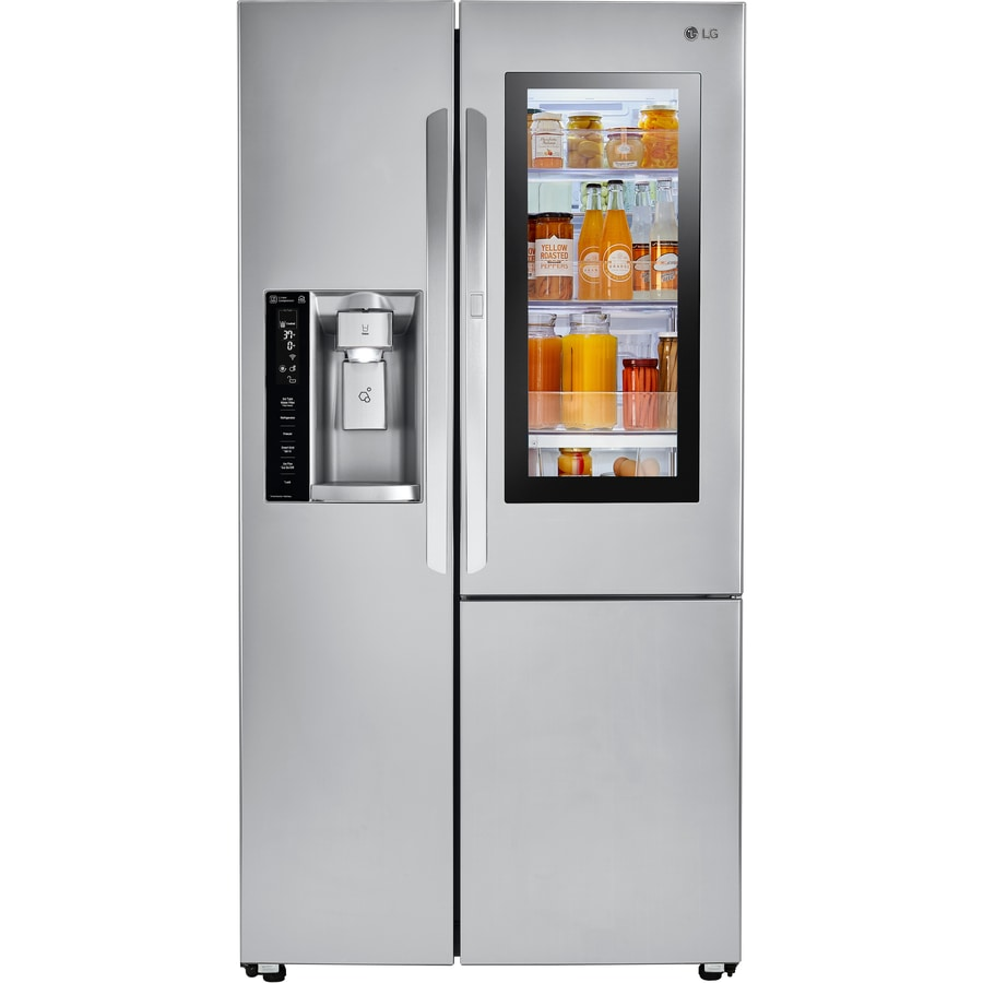 shop lg instaview 26 1 cu ft side by side refrigerator. Black Bedroom Furniture Sets. Home Design Ideas