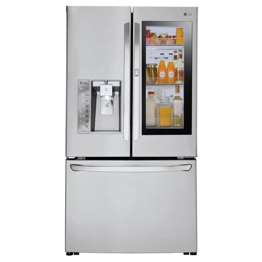 shop lg instaview 23 5 cu ft counter depth french door