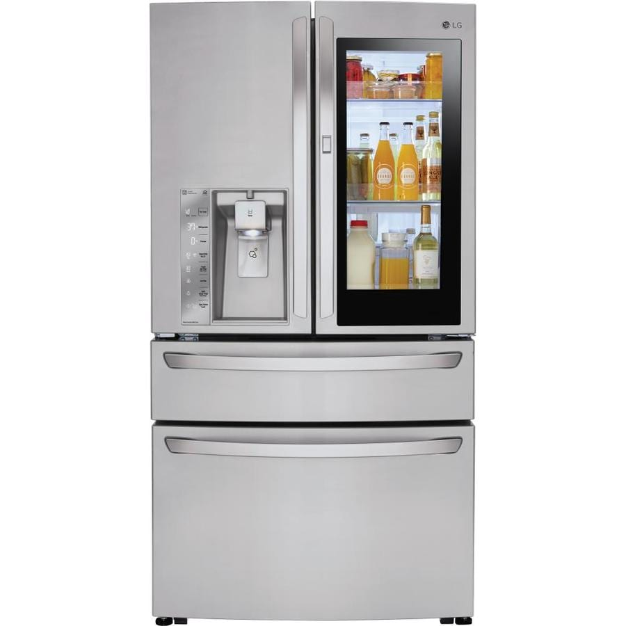 shop lg instaview 29 7 cu ft 4 door french door refrigerator with ice maker and door within door. Black Bedroom Furniture Sets. Home Design Ideas