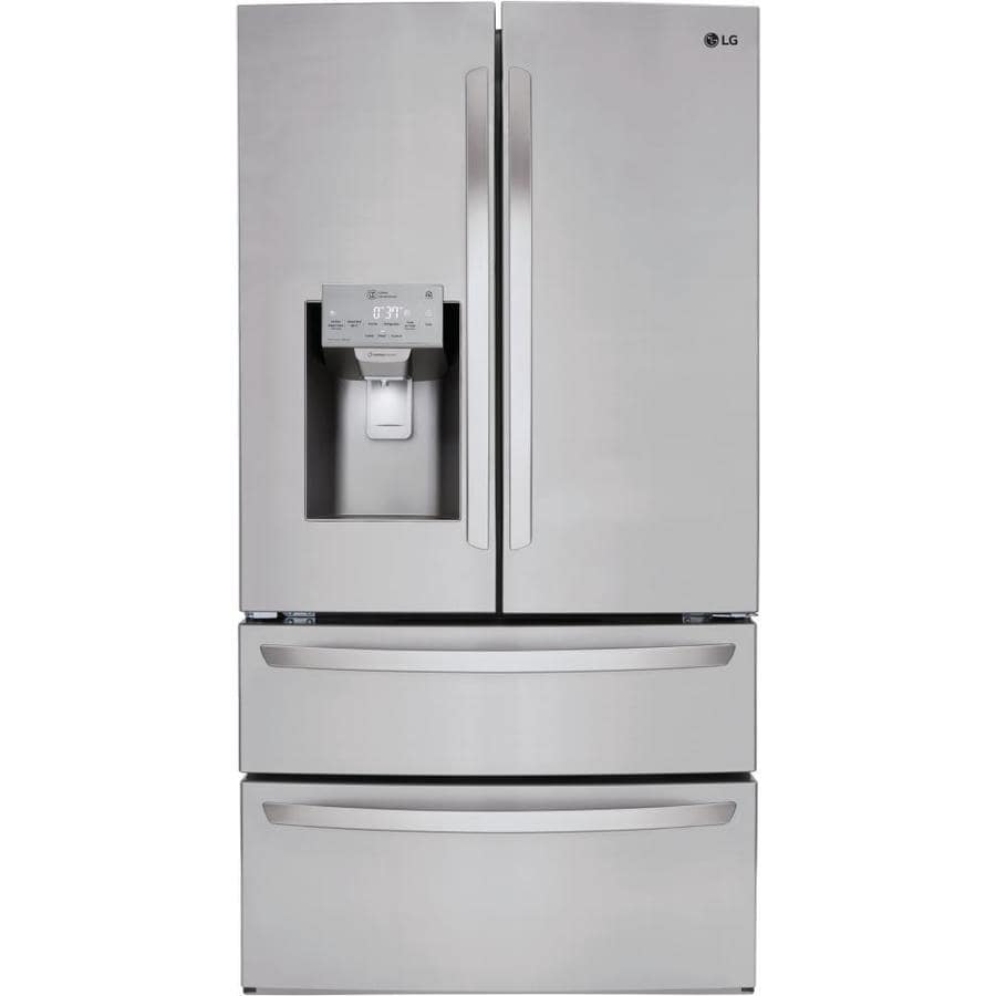 LG 27.8-cu ft 4-Door French Door Refrigerator with Ice Maker (Stainless Steel) ENERGY STAR