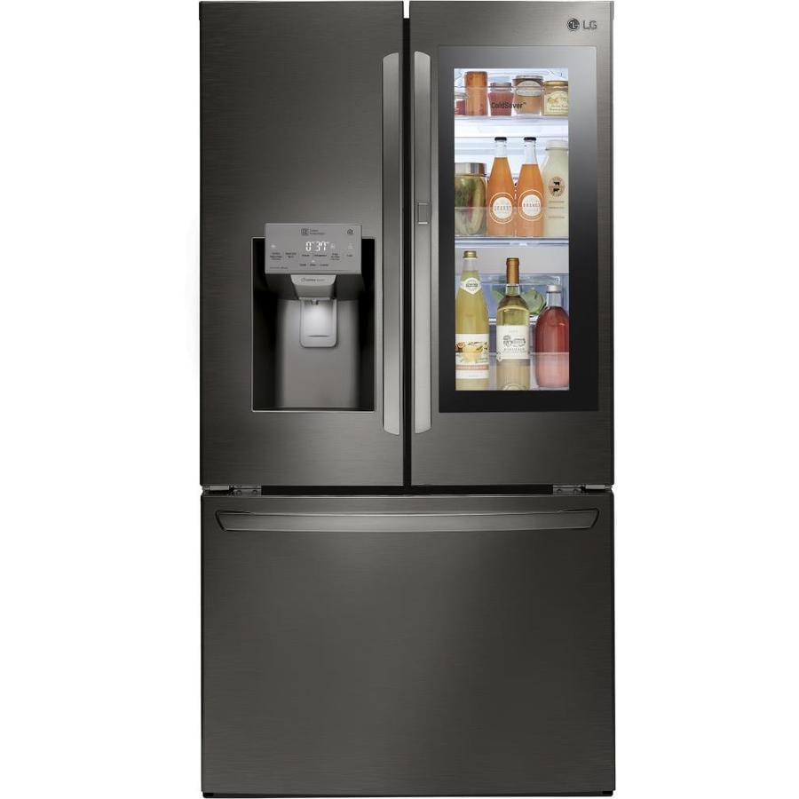 Lg 27 7 Cu Ft 4 Door French Door Refrigerator With Dual