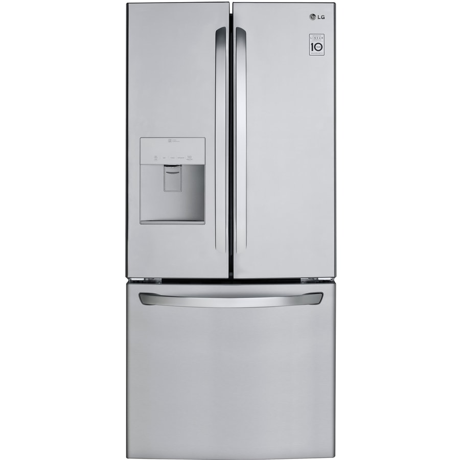 Shop Lg 218 Cu Ft French Door Refrigerator With Ice Maker