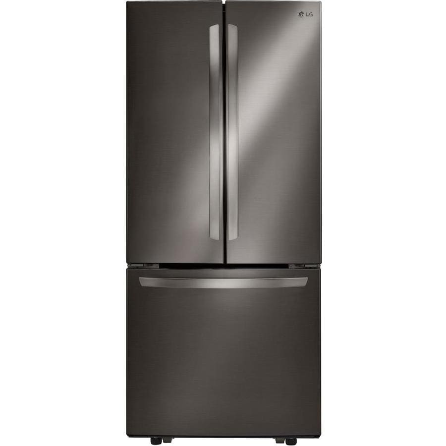 French Door lg 30 french door refrigerator pictures : Shop LG 21.8-cu ft French Door Refrigerator with Ice Maker ...