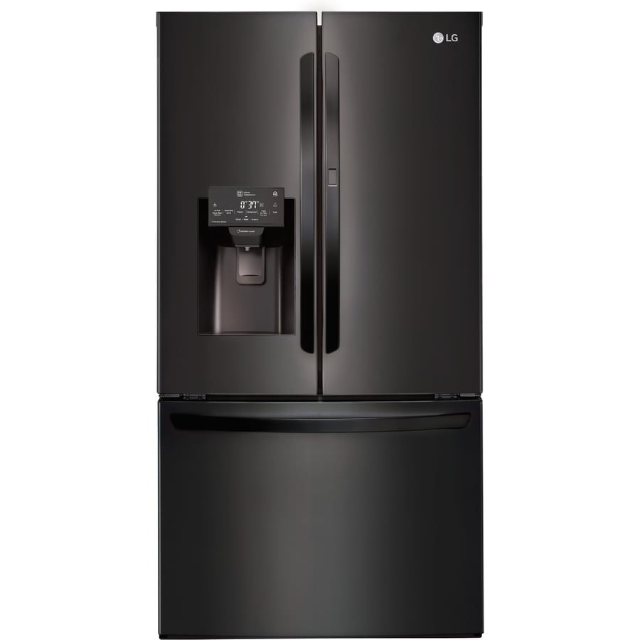 LG 27.7-cu ft French Door Refrigerator with Ice Maker and Door within Door (Fingerprint-Resistant Matte Black Stainless Steel) ENERGY STAR