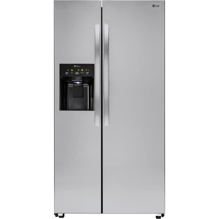 Lg 262 Cu Ft Side By Side Refrigerator With Ice Maker Stainless