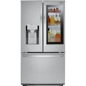 24 deep refrigerator. LG 26-cu Ft French Door Refrigerator With Dual Ice Maker And Within 24 Deep N