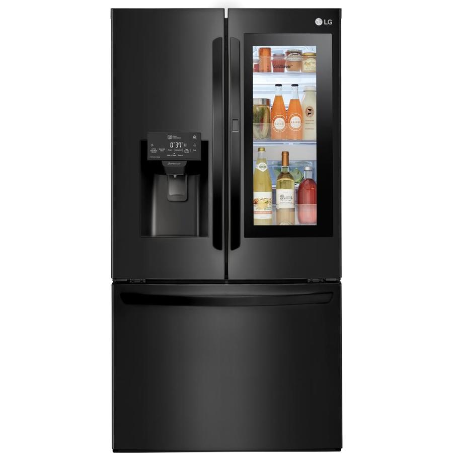 Lg Instaview 27 7 Cu Ft 4 Door French Door Refrigerator