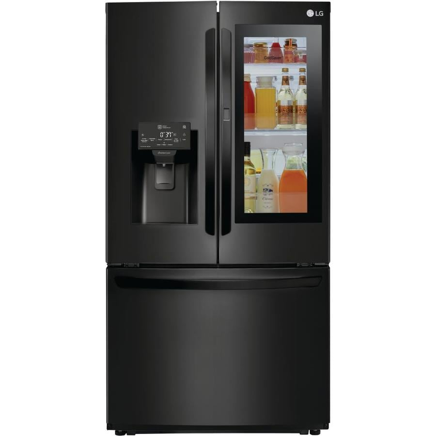 Lg Instaview 21 9 Cu Ft 4 French Door Refrigerator With
