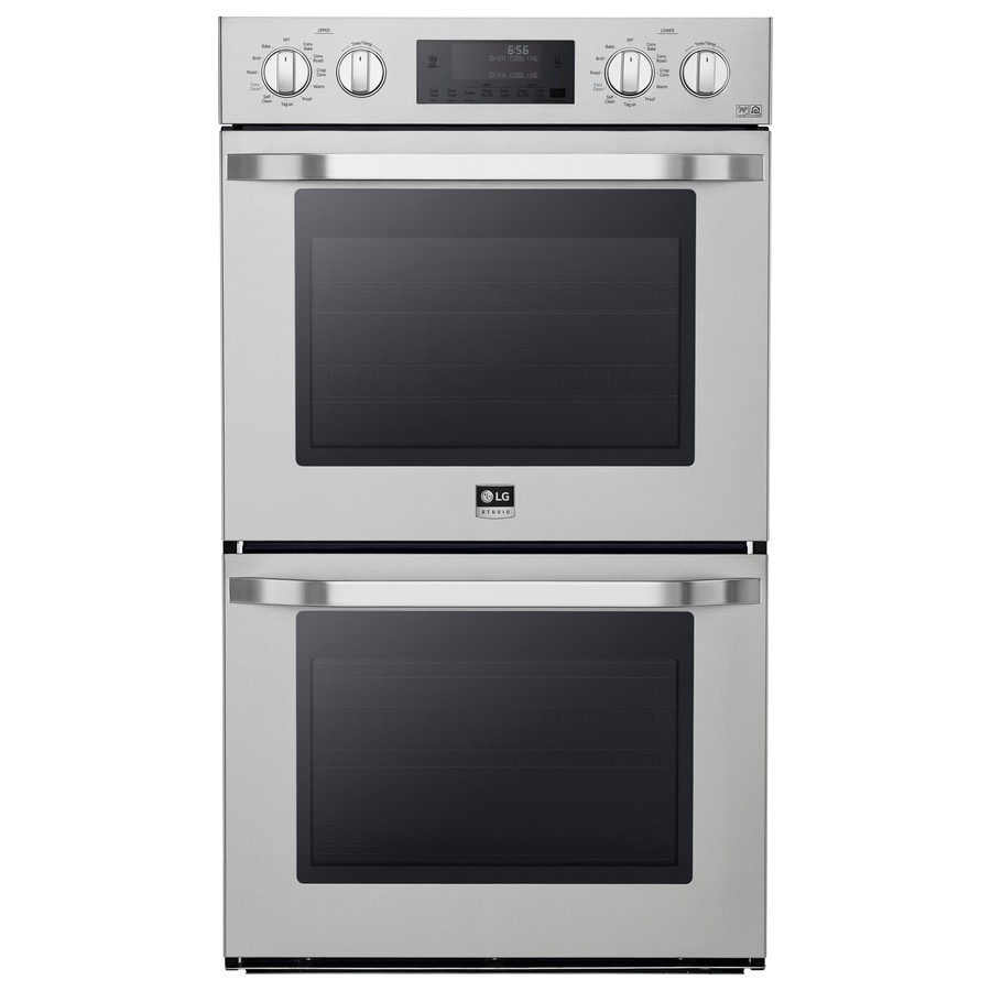 LG Studio Convection Double Electric Wall Oven (Stainless Steel) (Common: 30-in; Actual: 29.75-in)
