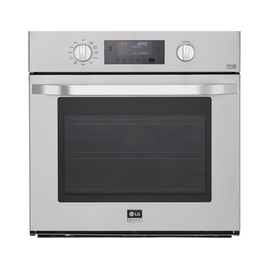 LG Studio Convection Single Electric Wall Oven (Stainless Steel) (Common: 30-in; Actual 29.75-in)
