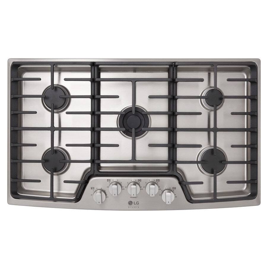 5 Burner Gas Cooktops: Shop LG Studio 5-Burner Gas Cooktop (Stainless Steel
