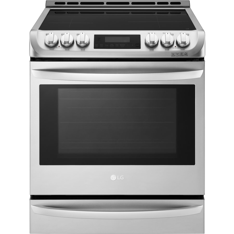 Oven Baking Element >> Shop LG LSE4617 EasyClean Smooth Surface 5-Element Self-Cleaning Slide-In True Convection ...