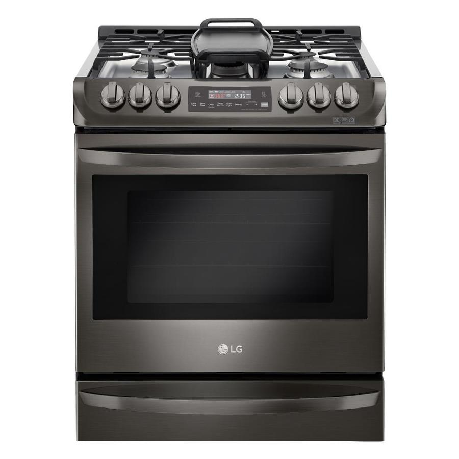 Lg Easyclean 5 Burner 6 3 Cu Ft Self Cleaning Slide In True