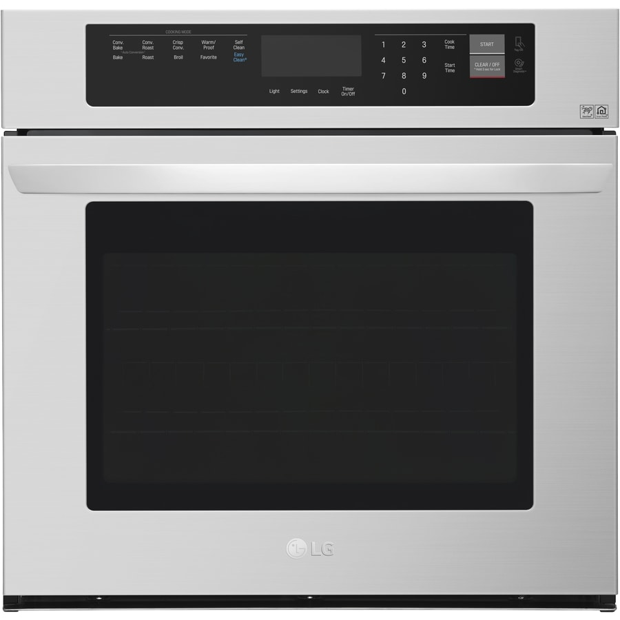 LG EasyClean Self-Cleaning Convection Single Electric Wall Oven (Stainless Steel) (Common: 30-in; Actual 29.75-in)