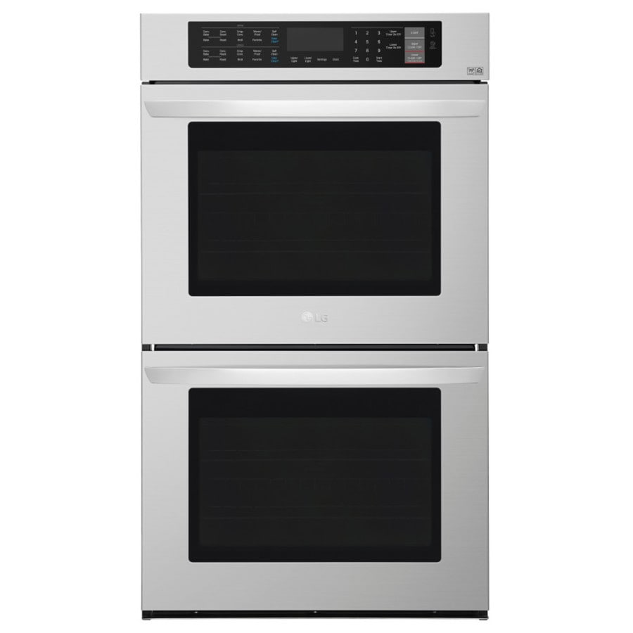 LG EasyClean Convection Double Electric Wall Oven (Stainless Steel) (Common: 30-in; Actual: 29.75-in)