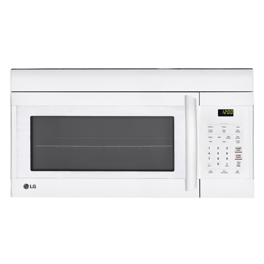 LG 1.7-cu ft Over-The-Range Microwave (Smooth White) (Common: 30-in; Actual: 29.875-in)