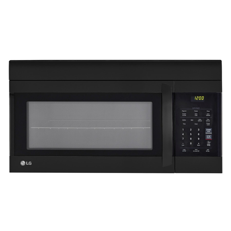 LG 1.7-cu ft Over-the-Range Microwave (Smooth Black) (Common: 30-in; Actual: 29.875-in)