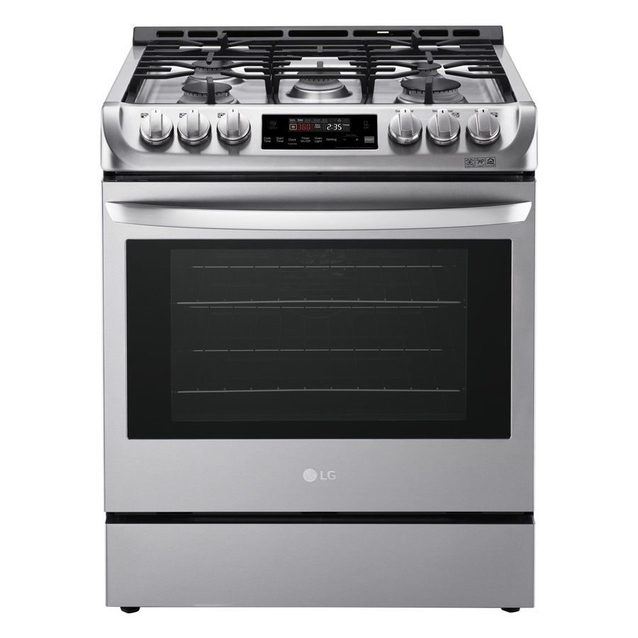 Shop Lg Lsg4511 5 Burner 6 3 Cu Ft Self Cleaning Slide In