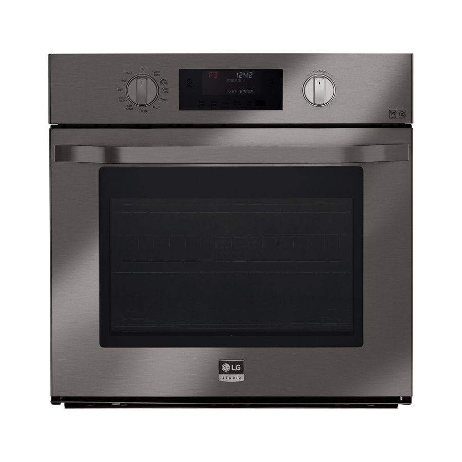 LG Studio Convection Single Electric Wall Oven (Black Stainless Steel) (Common: 30-in; Actual 29.75-in)