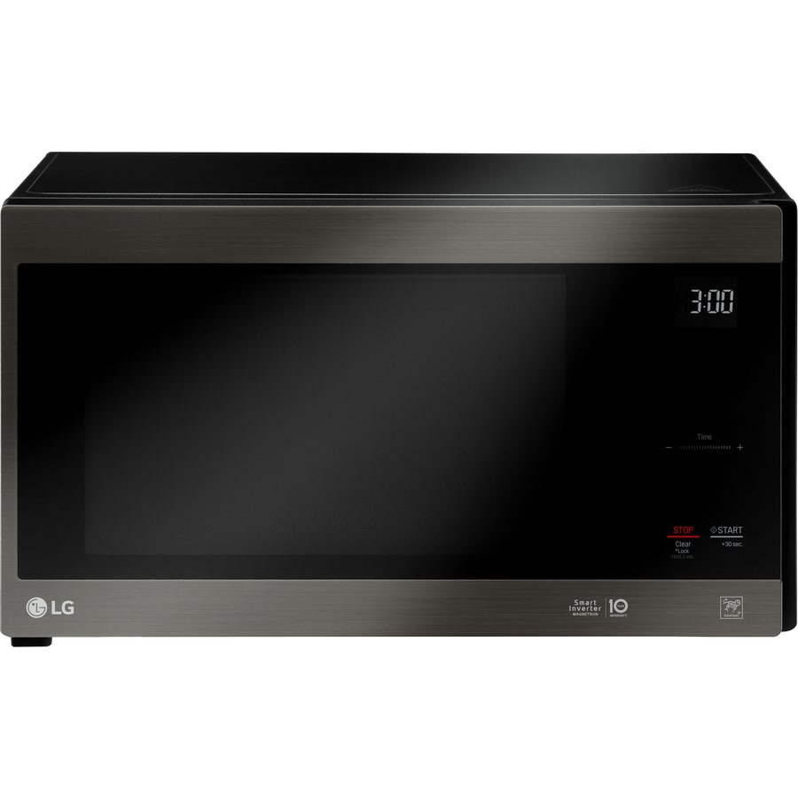 LG 1.5-cu ft 12-Watt Countertop Microwave (Black Stainless Steel)