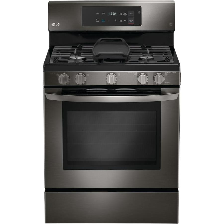 Lg Easy Clean 5 Burner 5 4 Cu Ft Self Cleaning True