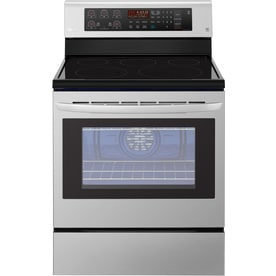 electric range white lg easyclean smooth surface 5element 63cu ft convection freestanding electric range ranges at lowescom