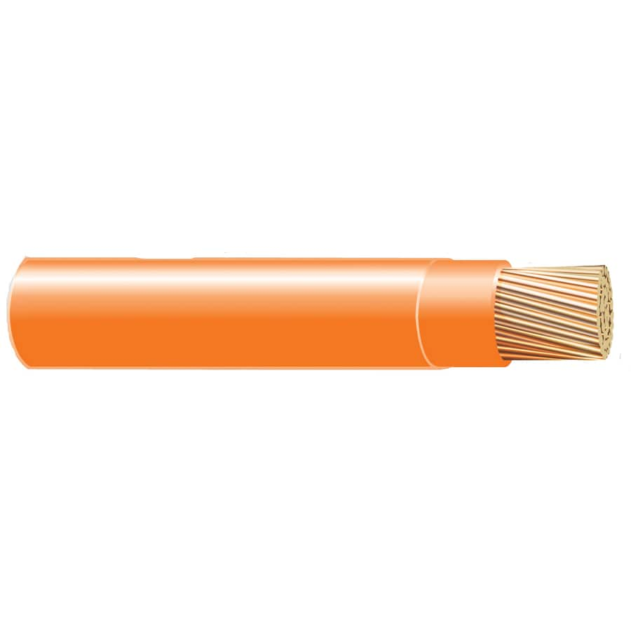 Shop Cerro Wire 500-ft 10-AWG Stranded Orange THHN Wire (By-the-Roll ...
