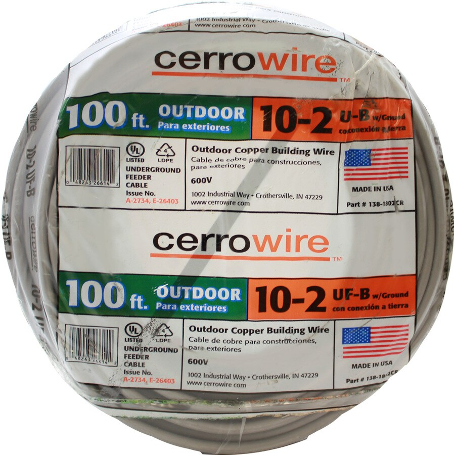 Shop Cerro Wire 30 Amp, 100 Ft. UF-B With Ground Underground Feeder ...
