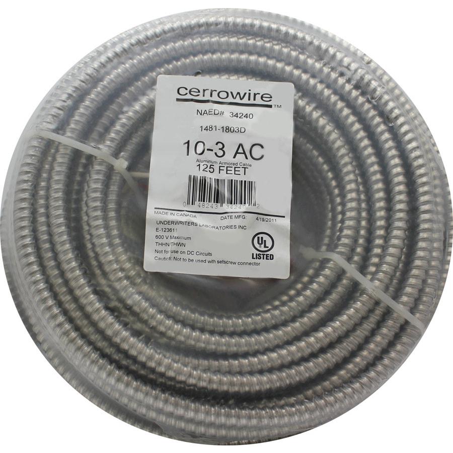 Shop Cerro Wire 125\' 10-Gauge Solid Aluminum Wire at Lowes.com